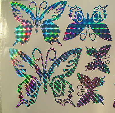 * Prism Mosaic * RAINBOW Set of Butterfly Car or Home Decal/Stickers #PM01