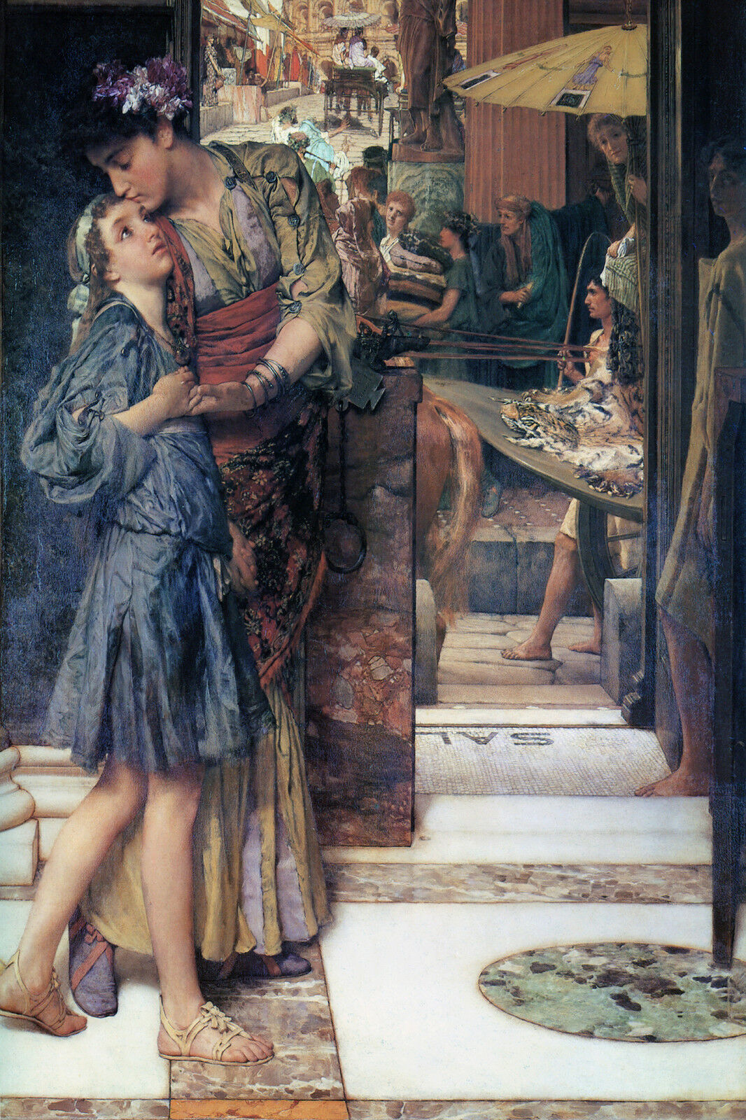 The Parting Kiss Alma Tadema  Canvas or Print Wall Art