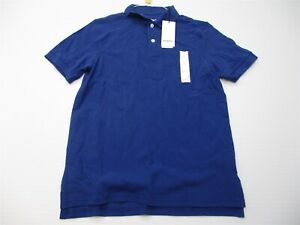 new-GOODFELLOW-Polo-Shirt-Men-039-s-Size-S-100-Cotton-Casual-Golf-Short-Sleeve-Blue