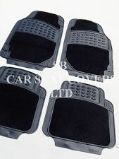 i - TO FIT A RENAULT LAGUNA CAR, DELUXE FLR MATS, 2210 BLACK - 4 PIECE SET