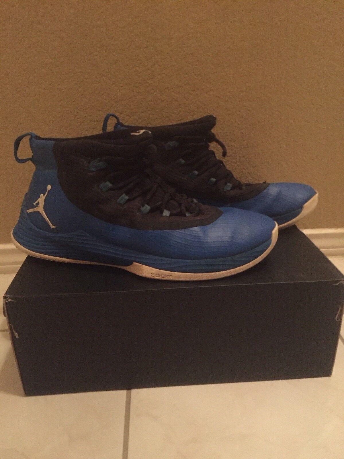 Nike Air Jordan Ultra Fly 2 Solar Blue White Black Size 15