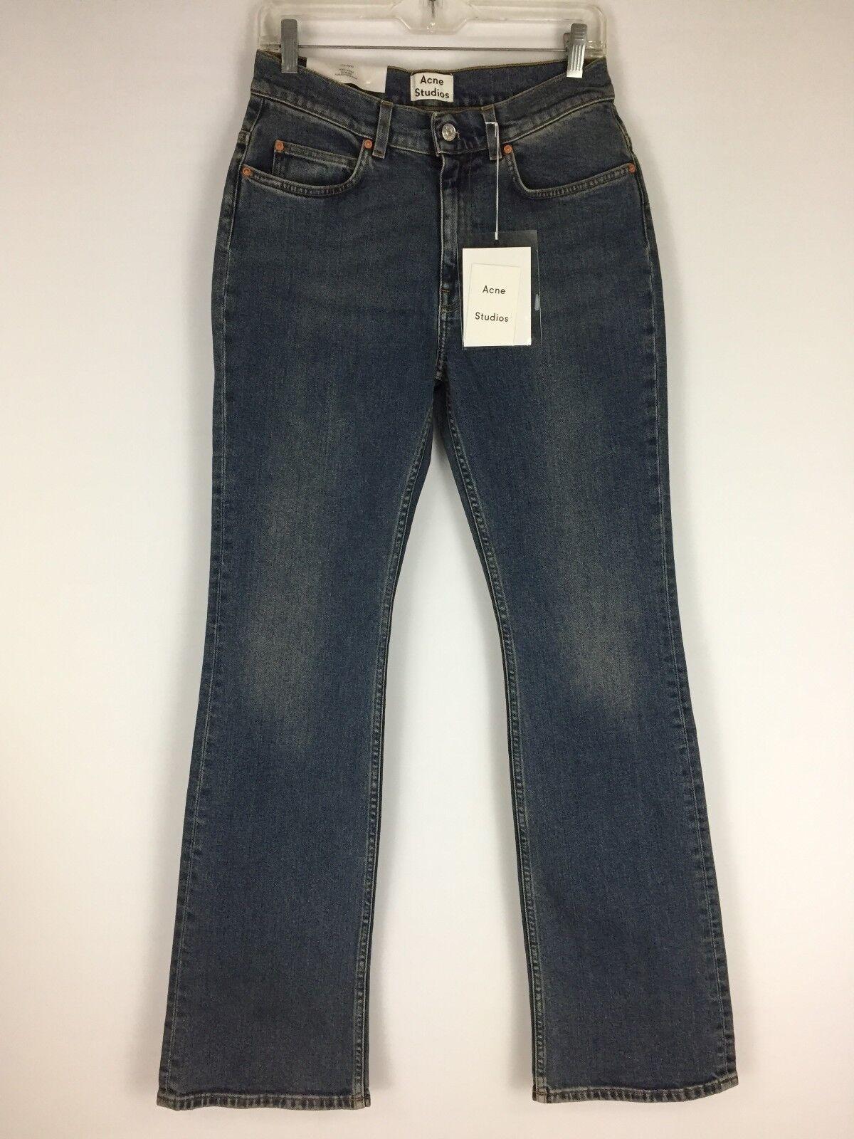 NWT Acne Studios Womens Sz 29 32 Medium Wash Lita Vintage High Waist Jeans