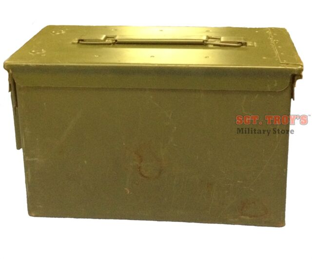 FAT 50 CAL Ammo Can PA108 SAW Box Steel USGI Military Surplus Very Good Cond