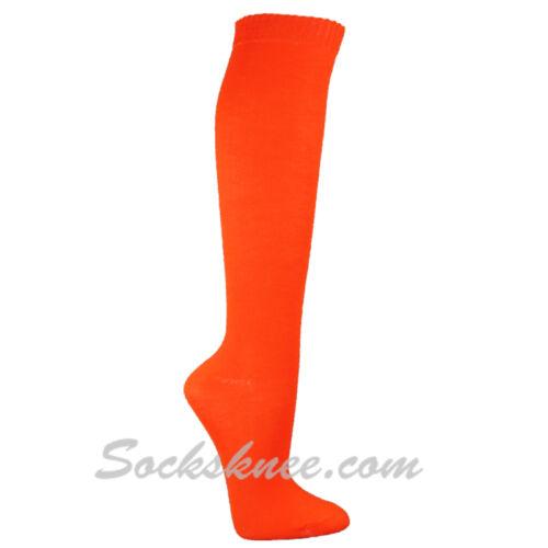 Women//Ladies Cute Colorful Solid Dress Knee High Socks