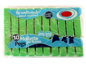 ds-Confezione-10-Mollette-Pinze-Bucato-Panni-Plastica-ExtraForte-Verdi-dfh