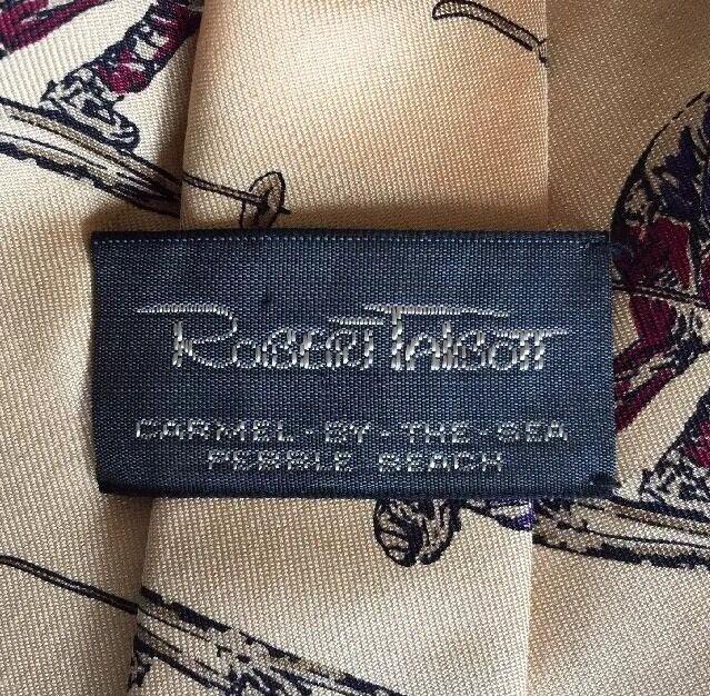 Robert Talbott Pebble Beach Men's Silk Necktie Wi… - image 4