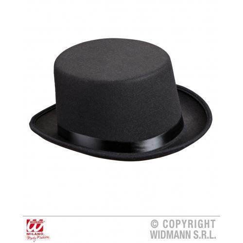 Deluxe Fieltro Negro Sombrero De Copa Victoriano Caballero Anillo Master Circo Fancy Dress