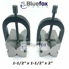 Steel V Block 2x15x15 With Sets Of Clamp Hardened Amp Ground