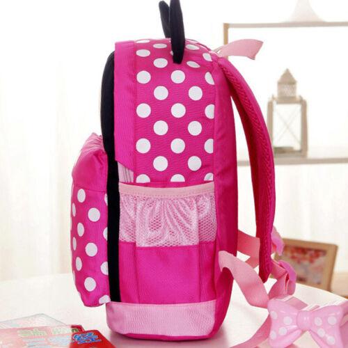 Kids Baby Girls kindergarden Mickey Schoolbag Boys Cartoon Mini Travel Backpack