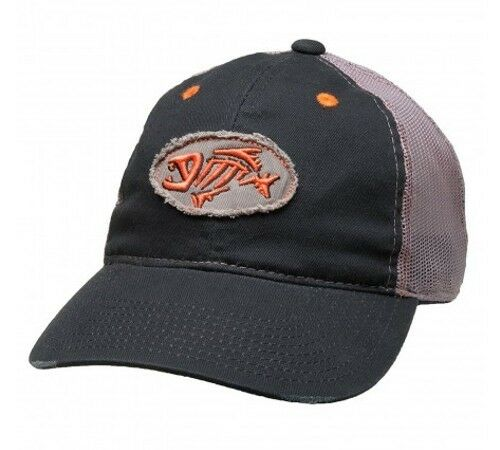 706337ea4a5dd G Loomis Skeleton Fish Logo Distressed Oval Trucker Cotton Cap Adjustable  Hat Navy for sale online