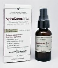 AlphaDerma CE Janson Beckett 1 oz Eliminate wrinkles Tightens and Firms FREE S&H
