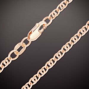 """1,1 mm breite Armband /""""Singapur/"""" Russische Rosegold 585 14 Karat Kette"""