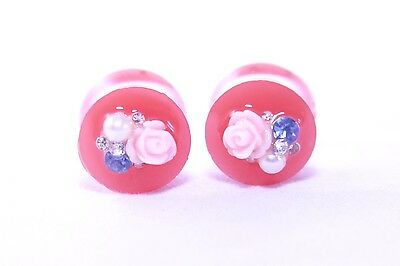 Etsy Jewelry certified Free USA shipping Personalized resin ear gauges plugs stretchers size of gauge Handmade Premium P-18 14mm