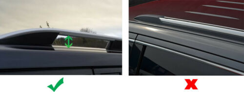 Barras cruzadas para los carriles de techo para ajuste Nissan Qashqai 100 kg Con Cerradura 2014+