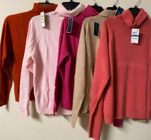 Karen Scott Womens Pullover Sweater Long Sleeve Turtleneck Petites New all sizes