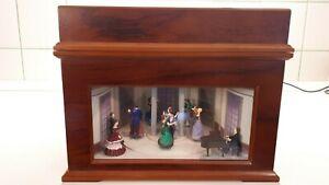 Boîte à musique Bk-310 Ballroom en bois de la reproduction des années 1800