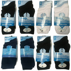3 Pairs Girls Boys Plain School Socks Cotton Rich Lycra Kids Unisex Childrens
