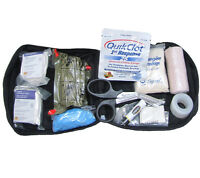 Individual First Aid Kit With Quikclot Olive Drab Molle Pouch Military Ifak on sale
