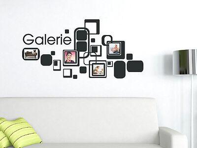 Wandtattoo Fotorahmen Bilderrahmen Galerie Deko für Wohnzimmer Aufkleber