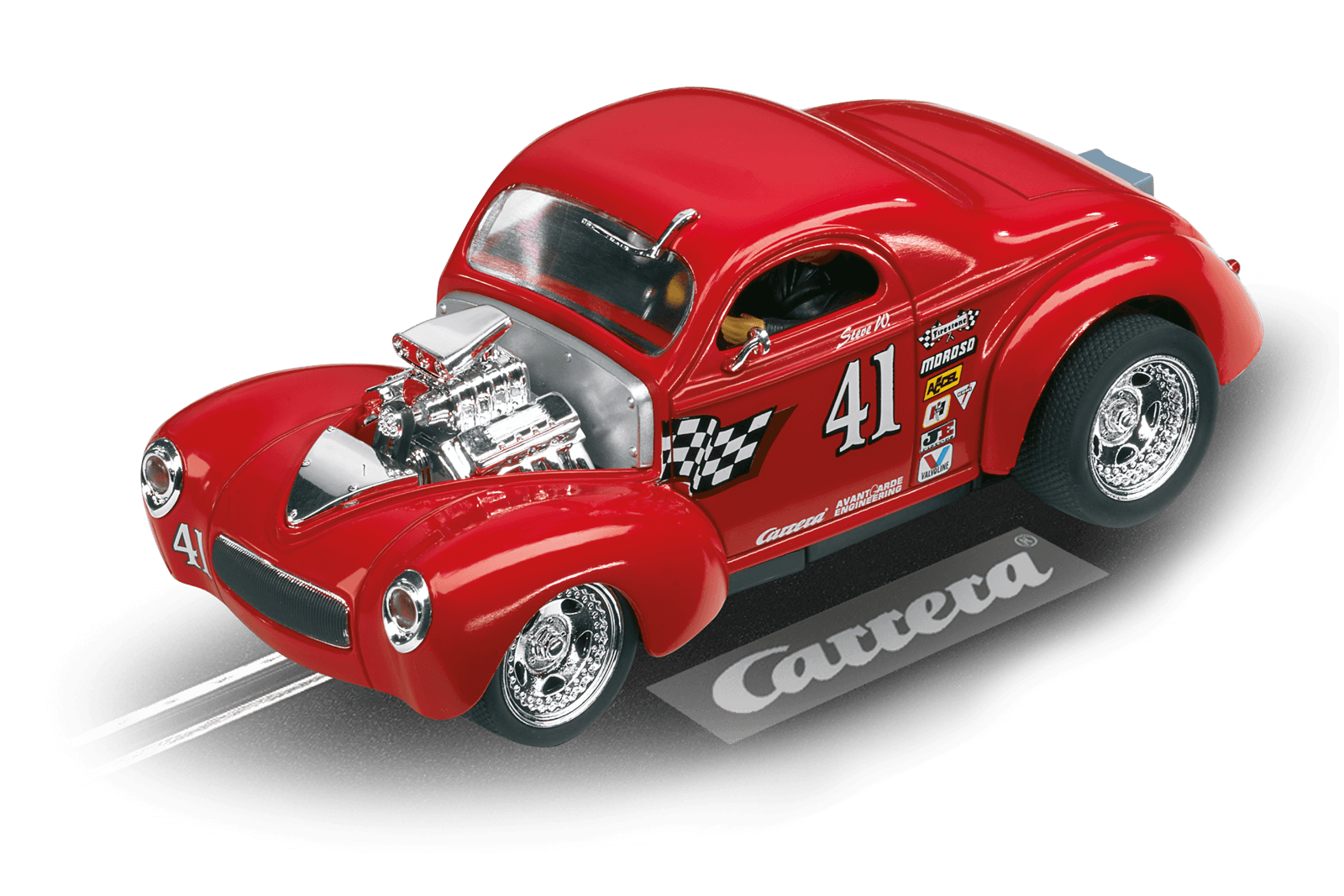 TOP Tuning   Carrera Digital 132  -  Hotrod '41 Willys Coupe High Performance