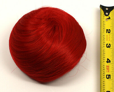 5'' Spiral Drawstring Bun w/ Combs Scarlet Red Cosplay Wig Hair Accessory NEW