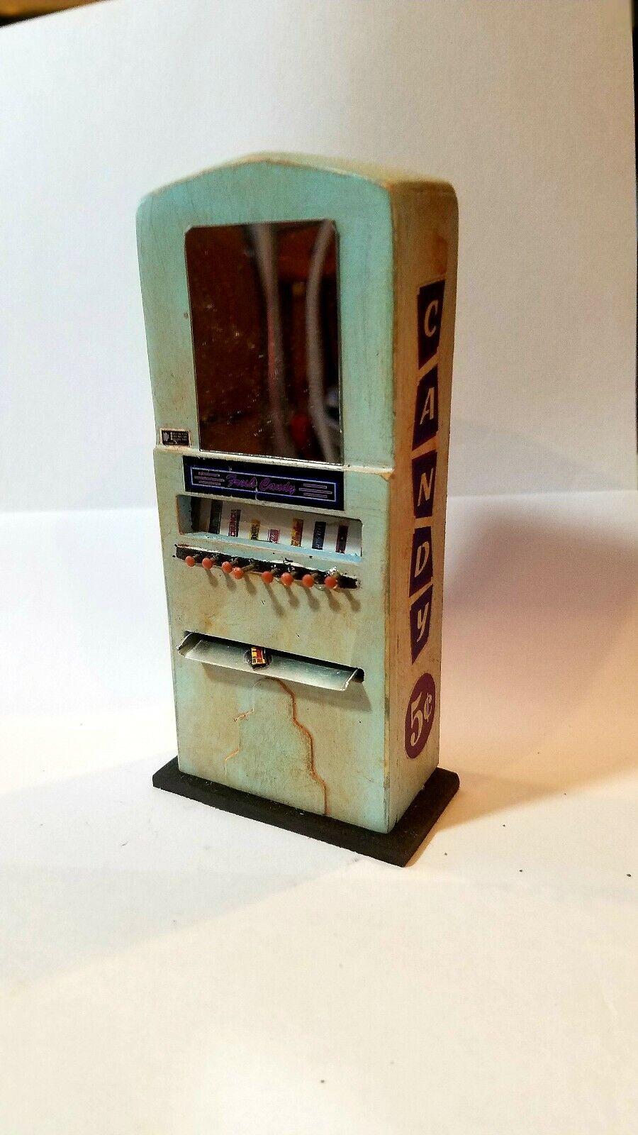 SCochey miniaturas uno de una clase 1 12 Escala Vintage Stoner Candy Máquina LT BL
