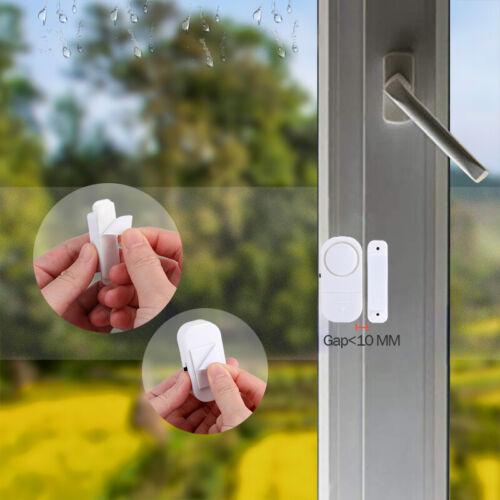 4PCS Wireless Window Door Entry Security Anti-Theft Alarm 120 dB w// Batteries