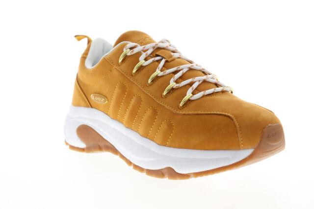 Lugz Vulcan MVULCANK-714 Mens Brown Nubuck Leather Low Top Sneakers Shoes 6.5