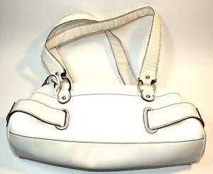 Franco Sarto White Faux Leather Purse