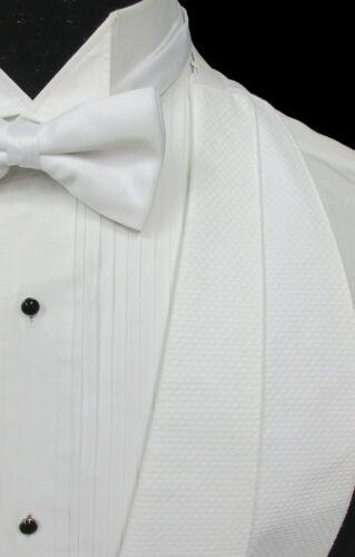 Boys White Pique Open Back Tuxedo Vest /& Bow Tie Wedding Ringbearer Formal