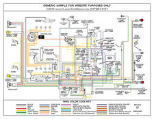 jaguar xk120 1948 1954 color wiring diagram 11x17 ebay rh ebay com 1952 Jaguar XK120 Roadster Jaguar XK