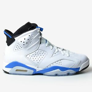 low priced 7d077 92e97 Image is loading Air-Jordan-6-Retro-Sport-Blue-2014-White-