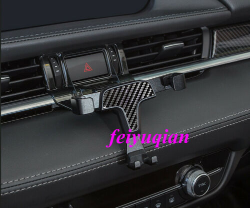 1x Carbon fiber Console Air Vent Phone Holder Stand For Mazda 6 Atenza 2018-2020