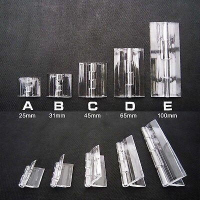 Clear Transparent Acrylic Plastic Hinge Box Case Piano Plexiglass Hinge 8 sizes