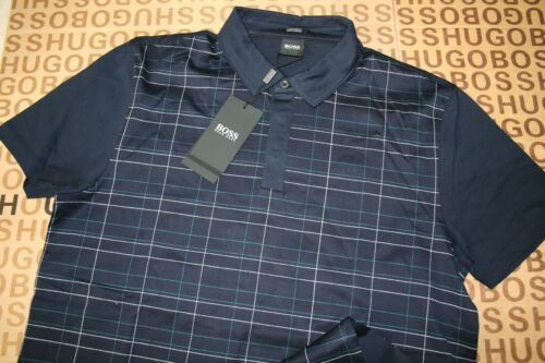 New Hugo Boss Mens Blue Tailored SELECTION Pima Cotton Suit Polo TShirt Medium afficher le titre d'origine
