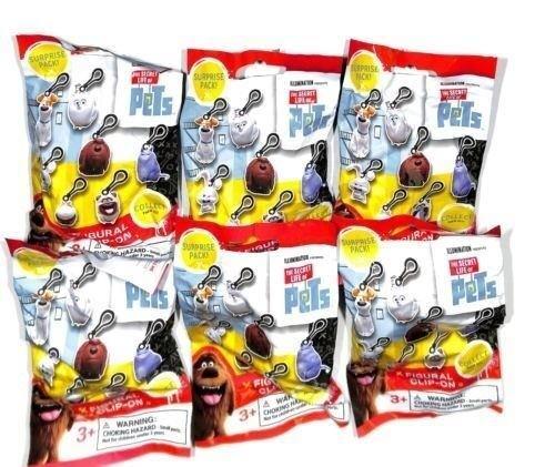 The Secret Life of Pets Figural clip-on 6 blind bags sealed