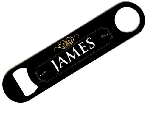 Personalised Any Name Bar Blade Beer Home Pub Cafe Occasion Bottle Opener 13