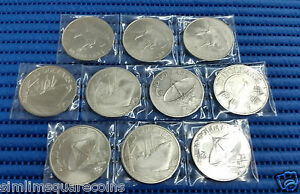 1972-1980-Singapore-10-Eagle-Ship-and-Satellite-Silver-and-Nickel-Coin