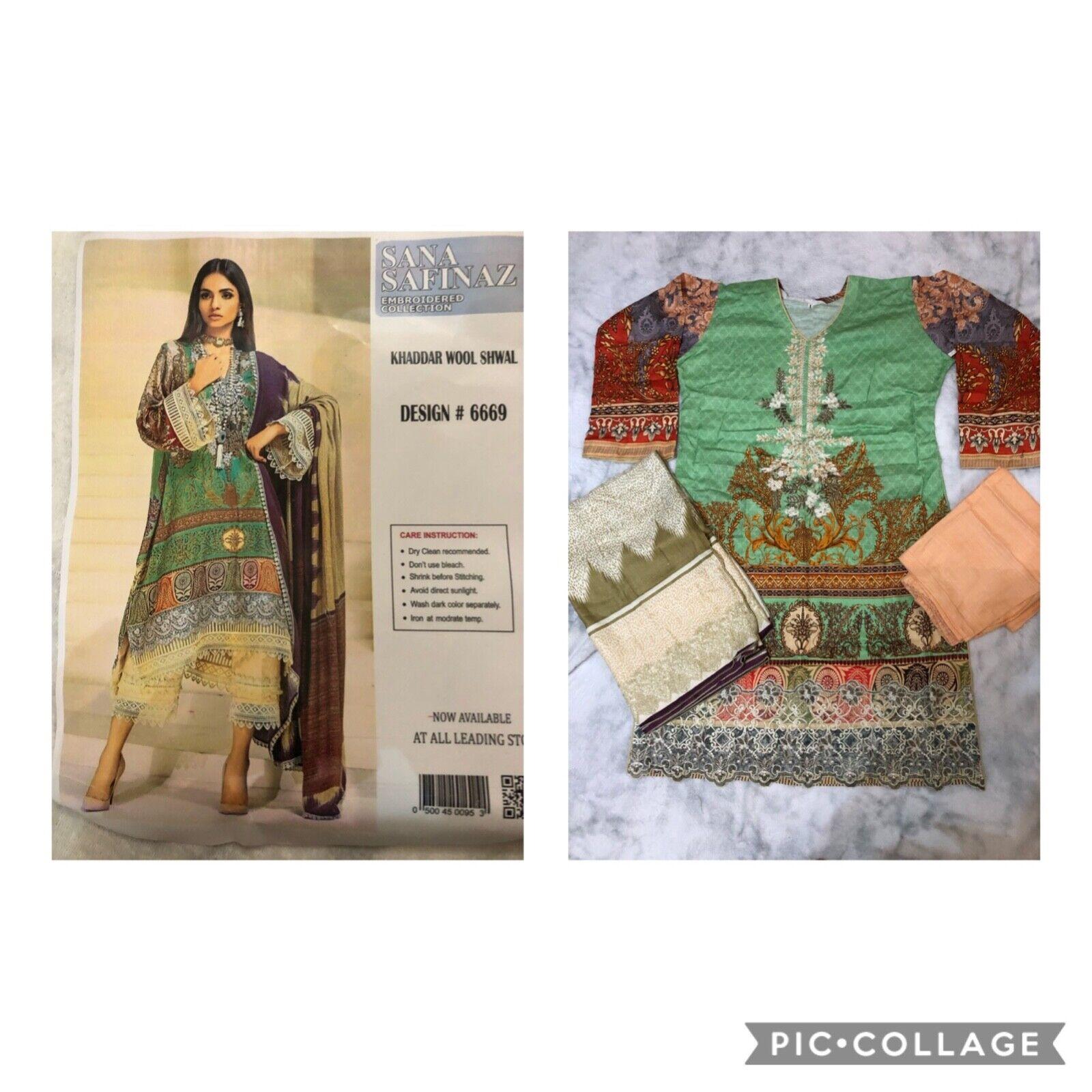 Sana Safinaz inspired Khaddar Winter 2020 Shalwar Kameez Stitched Size L