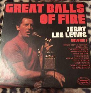 Jerry-Lee-Lewis-Great-balls-of-fire-1974-Vinyl-LP-Hallmark-SHM823-A1-B1-EX