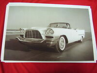 1957 Chrysler 300c Convertible On Beach Daytona? Big 11 X 17 Photo Picture