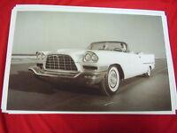 1957 Chrysler 300c Convertible On Beach Daytona? Big 11 X 17 Photo Picture