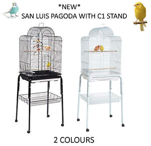 NEW-RAINFOREST-SAN-LUIS-PAGODA-C1-STAND-BUDGIE-CANARY-FINCH-CAGE-WITH-STAND