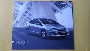 Honda-Insight-HE-HS-HX-1-3-HE-T-paper-brochure-sales-catalogue-January-2014-MINT