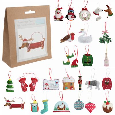 Pair Of Mittens Trimits Felt Christmas Decoration Kit