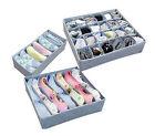 Underwear Bra Socks Ties Divider Closet Container Storage Box Organizer Set 3PCS
