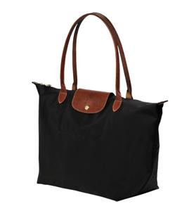 64b6070ce0c00 Authentic Longchamp Black LE PLIAGE TOTE BAG Large Nylon Shoulder ...