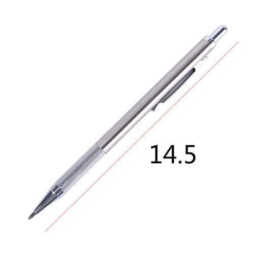 1pc Silber 2.0mm Druckbleistift Automatische Stift Bleistift Schule BürobedarfJP
