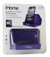 iHome iHM16U Portable Stereo Speaker System for iPads iPods Purple *refurbish
