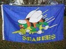SEABEES Flag 3x5 ft USN CBs US Navy Veteran Vet Active Construction Battalion CB